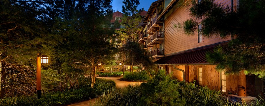 Exterior of Boulder Ridge Villas at Disney's Wilderness Lodge