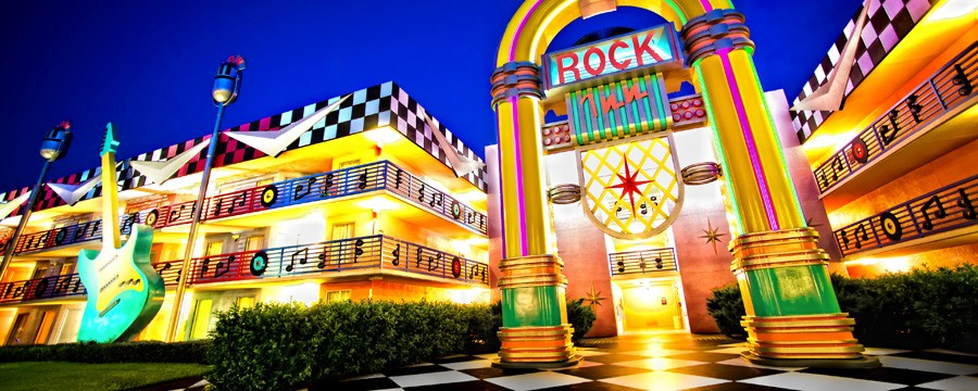 Exterior of Disney's All-Star Music Resort