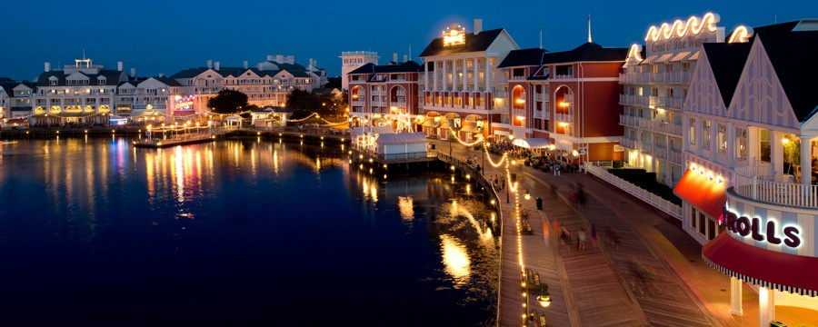 Exterior of Disney's Boardwalk Villas
