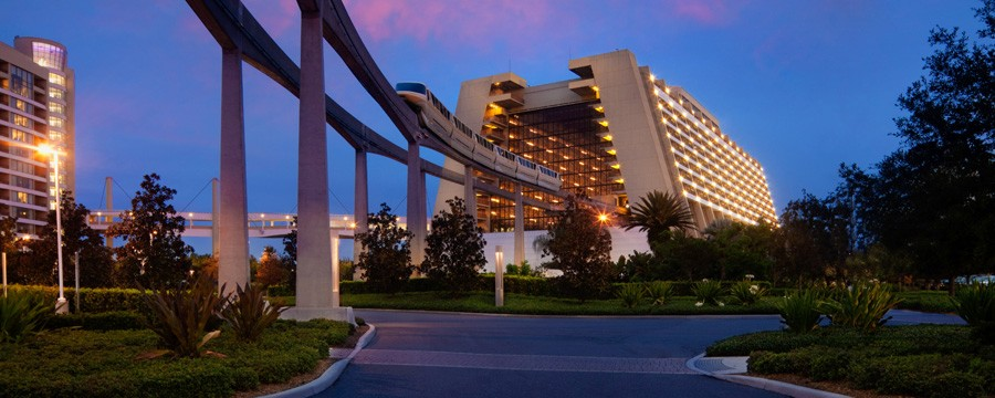 Exterior of Disney's Contemporary Resort