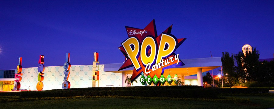Exterior of Disney's Pop Century Resort